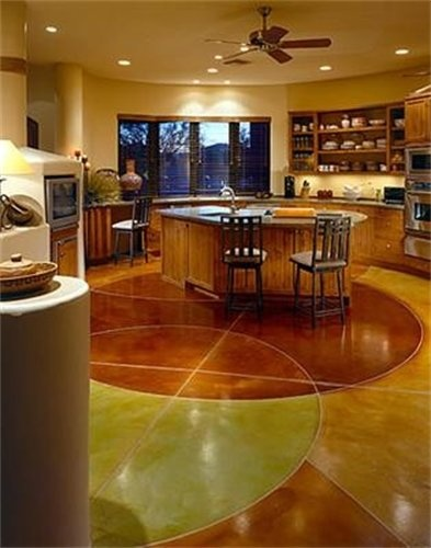 Stained Concrete Kitchen Floor