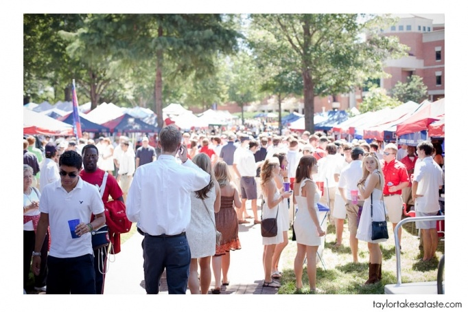 Ole Miss football in the Grove