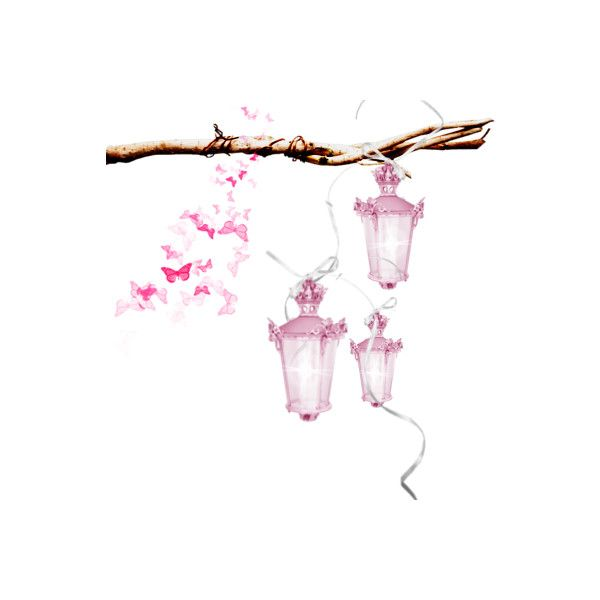 Glowing Pink Lanterns ❤ liked on Polyvore featuring home, home decor, candles & candleholders, pink home accessories, pink home decor and pink lantern