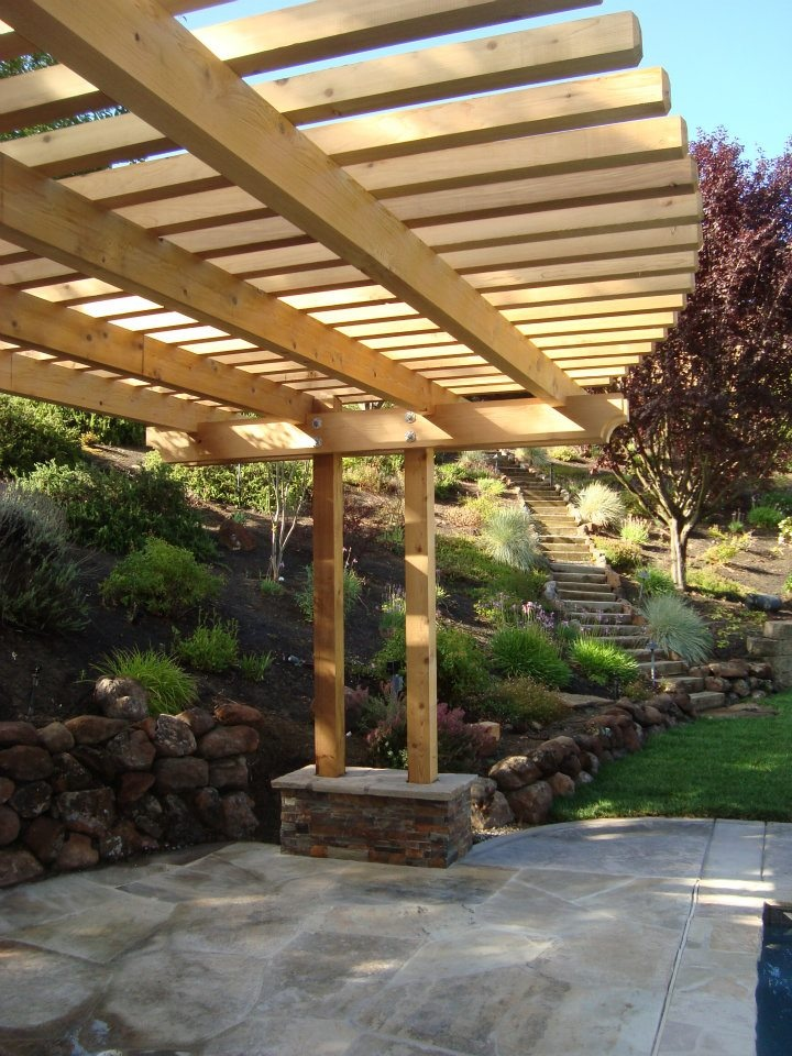 Curved Arbor Outdoor Living By Rich Craig Construction