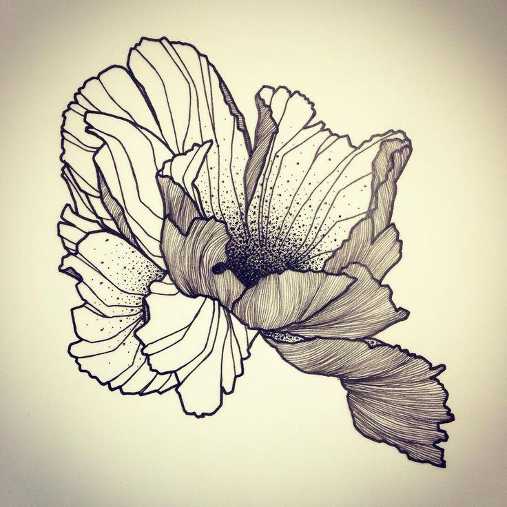 tatouage oeillet fleur
