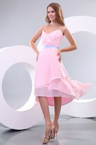 Pink A-Line Sweetheart Bridesmaids Dresses ted2788 - SILHOUETTE: A-Line; FABRIC: Chiffon; EMBELLISHMENTS: Pleating; LENGTH: Knee Length - Price: 81.0500 - Link: http://www.theeveningdresses.com/pink-a-line-sweetheart-bridesmaids-dresses-ted2788.html