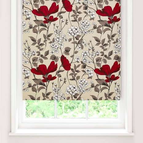 Poppy Fields Blackout Roller Blind | for the kitchen