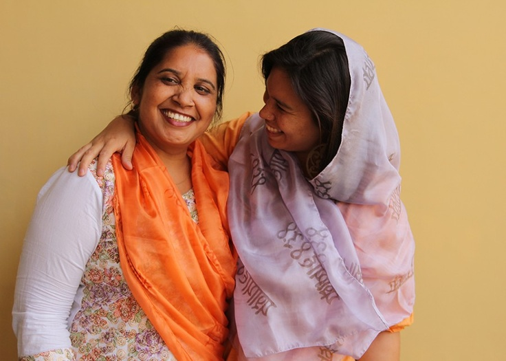 Our (beautiful!) artisans at Himalayan Tapestries showing off their handmade Story Scarf.     Become a part of the Story when you buy yours: http://storycompany.com/categories/hand-printed-silk-scarf.html#