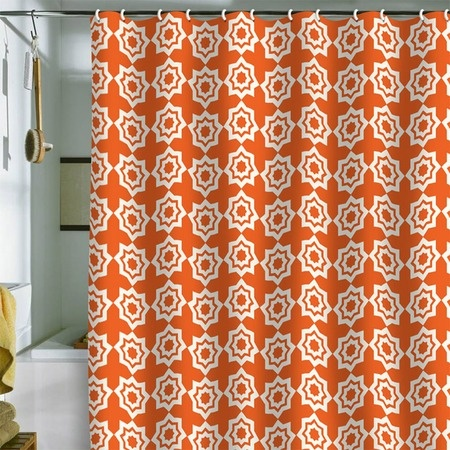 Khristian A. Howell Moroccan Mirage Orange Shower Curtain... perfect for my guest bathroom color scheme!
