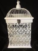 Filigree hearts bird cage 40cm tall