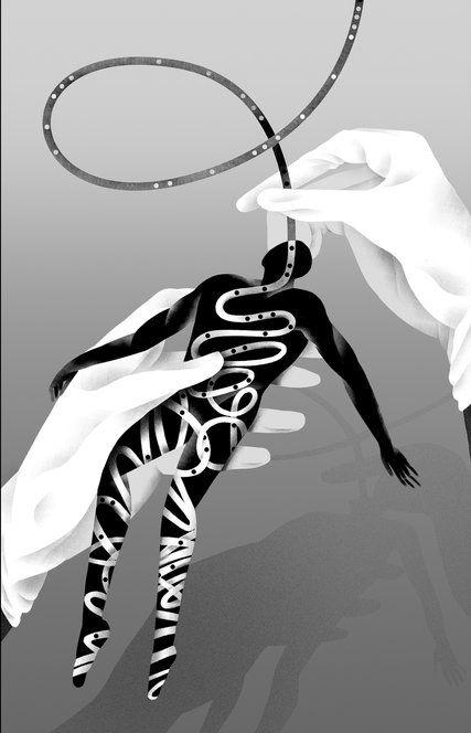 This Op-Ed asks, Force-Feeding: Cruel at Guantánamo, but O.K. for our elderly parents? (Illustration: Rebekka Dunlap)