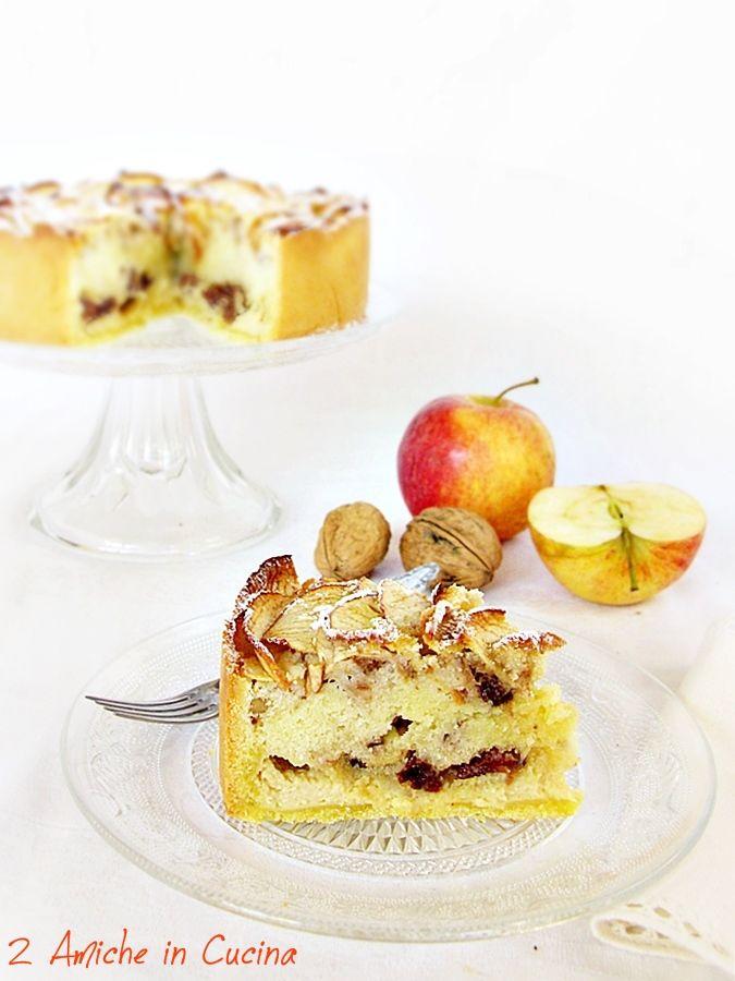 Torta di Mele con Crema al Marsala, Uvetta e Noci | 2 Amiche in Cucina
