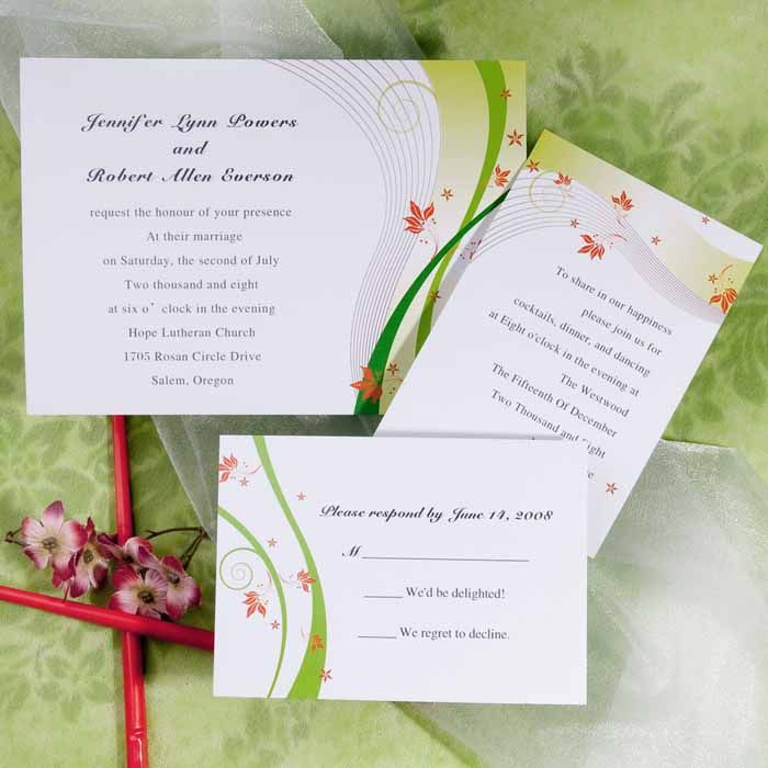 httpwwwhowtogoaboutplanningaweddingcomweddinginvitationideasphp has some tips Spring Wedding