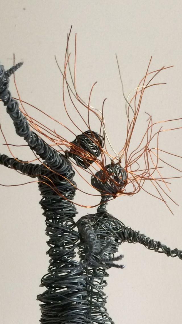 27 best wire sculpture ideas images on pinterest for 3d wire art