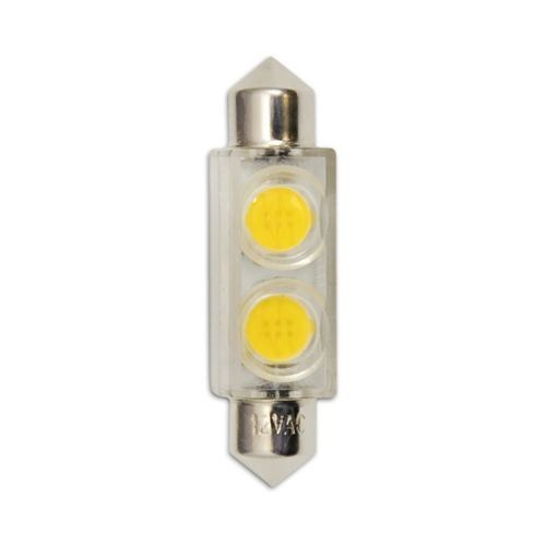 Bulbrite 770530 Pack of (2) 0.8 Watt (3 Watt Replacement) Clear T3 Shaped Specialty Base 12V LED Bulbs