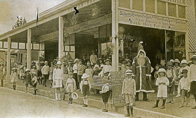 Father Christmas visits Blackheath NSW Australia 1910
