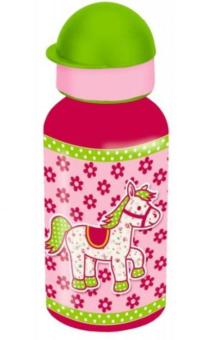 Alu-Trinkflasche Pferdchen rosa von Die Spiegelburg