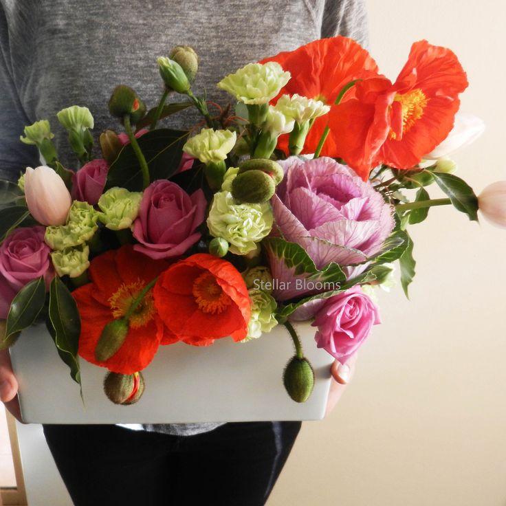 Pop Pop Poppies! Stellar Blooms table centrepiece www,stellarblooms.com.au
