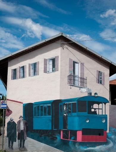 Gamba de Legn, murales a Sedriano