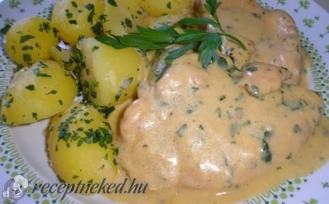 Tejszínes, fokhagymás csirke recept fotóval
