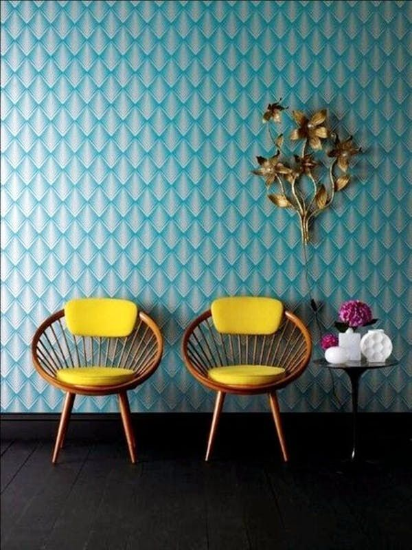 Bold color & playful patterns create a lively living space. Interior design. Modern Home.