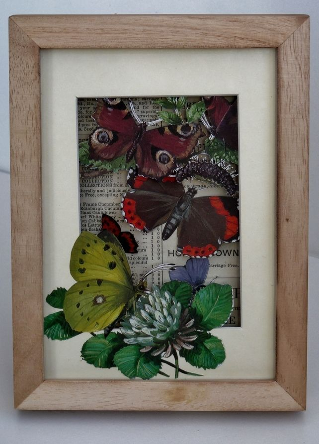 Garden Butterfly Diorama - Upcycled vintage books £15.00