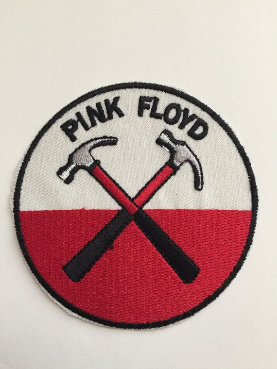 "Pink Floyd ""The Wall hammers logo"" embroidered patch"