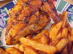 la table en fête : Poulet grillé sur bbq à la portugaise