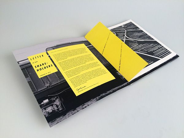Annual Report / Union Pacific on Behance