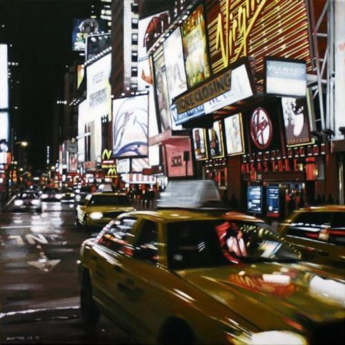 Street paintings by Daniel Uytterhaeghe (acrylic on paper)