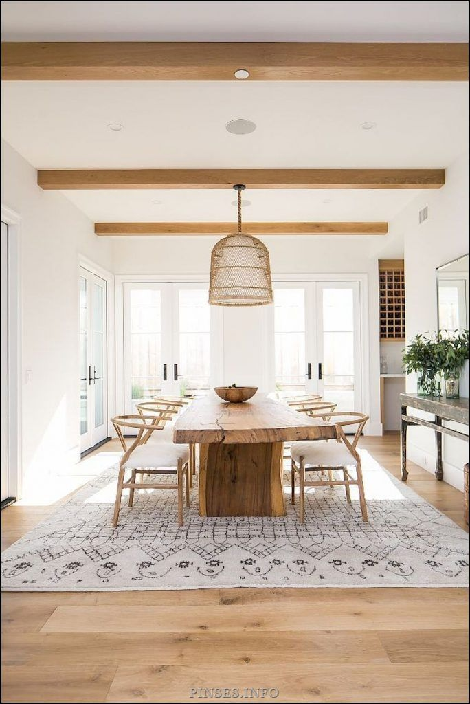 Pin On Home Decoration Farmhouse Dining Room Table Farm House Living Room Modern Dining Room