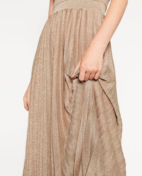 """ZARA: abito da """"city ballerina"""" lurex €59,95 - seguimi su www.stylosophique.com"""