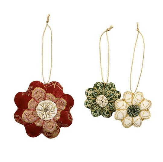 Fabric Ornaments Patterns : Fabric holiday ornaments holidays Pinterest