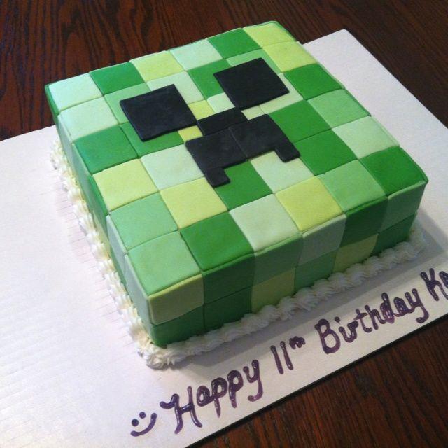 Minecraft Creeper Cake  Cakes cakepins.com