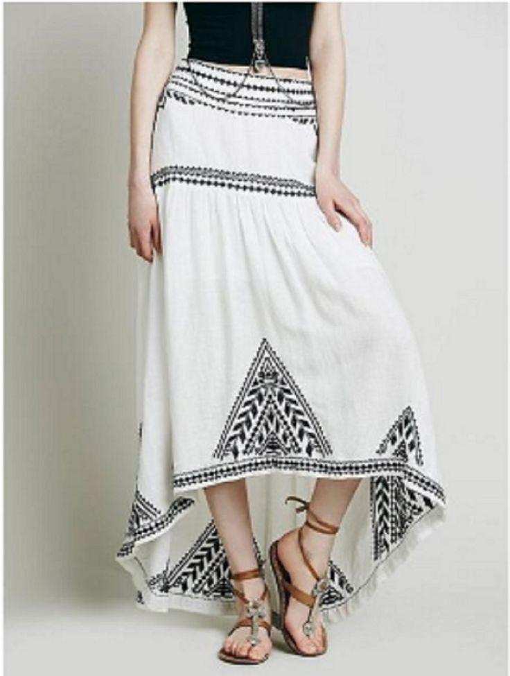 White Sweet Escape Cotton Maxi Skirt