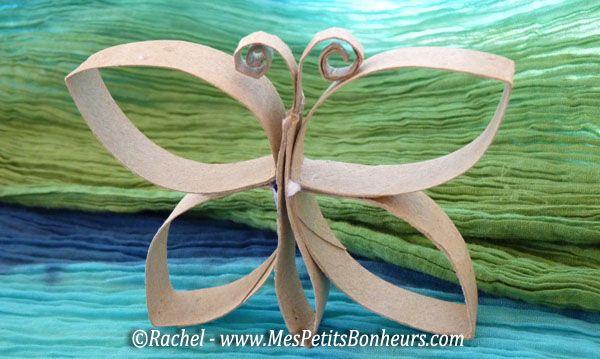Papillon rouleaux papier wc recyclage rouleaux papier pinterest toilettes paperolles et - Bricolage avec rouleau papier toilette vide ...