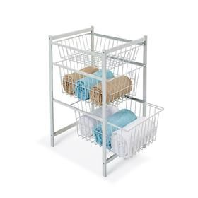 3 Tier Wire Drawers - White