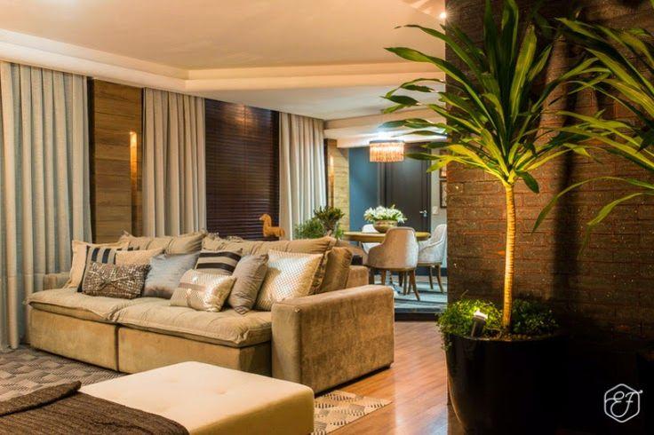 Sala De Tv Simples E Aconchegante ~ Sala de jantar e estar integradas e aconchegantes  Casa clean
