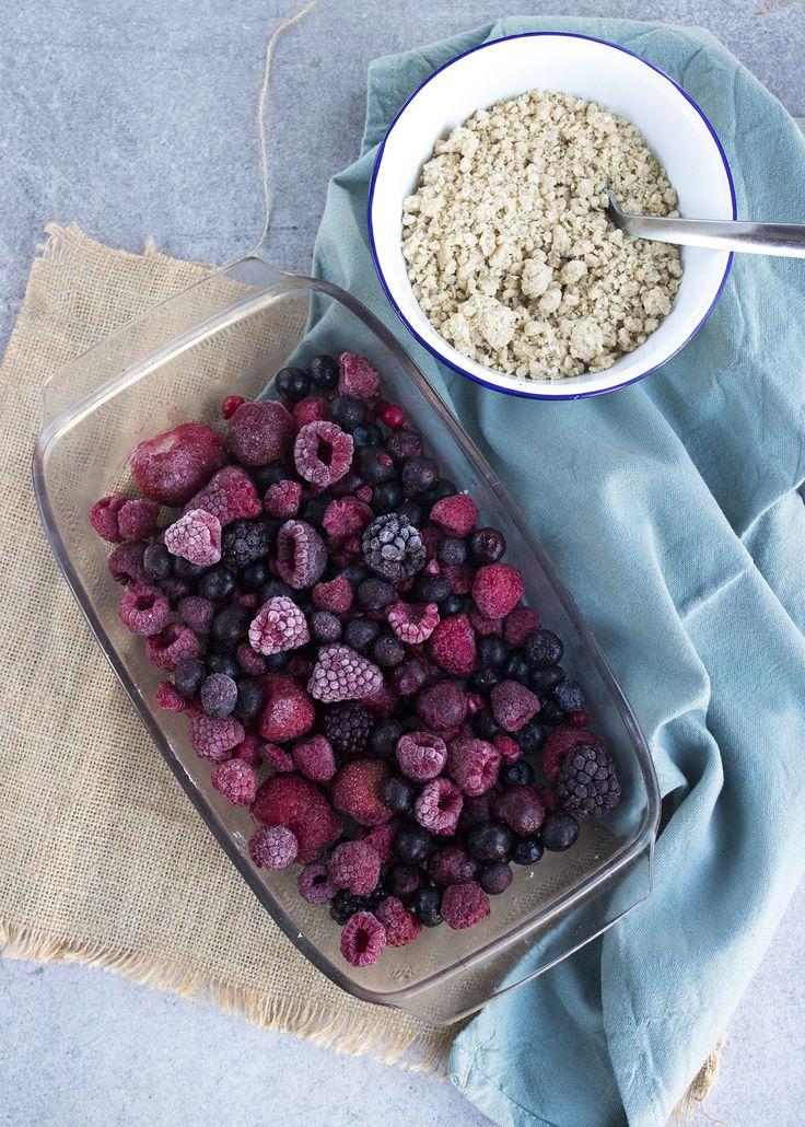 Crumble met rood fruit