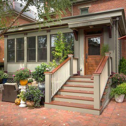 11 best images about front porch on pinterest slate for Enclosed deck plans
