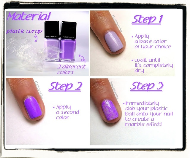 Nailderella: Saran wrap nails with Illamasqua