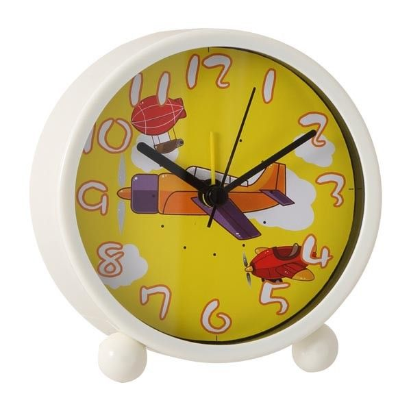 Airplane design analogue alarm clock boys clock