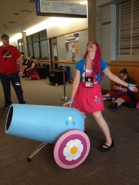 Pinkie Pie Costume - Never Leave Home Without a Party Cannon by Irma-Nerd on DeviantArt