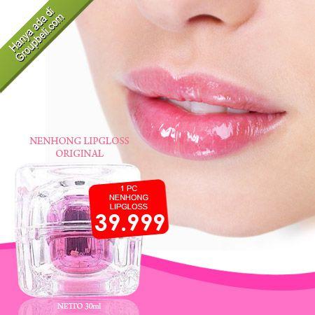 Nenhong Lipgloss Original Pewarna Bibir Alami Agar Terlihat Glossy dan Natural hanya Rp 39.999 http://groupbeli.com/view.php?id=737