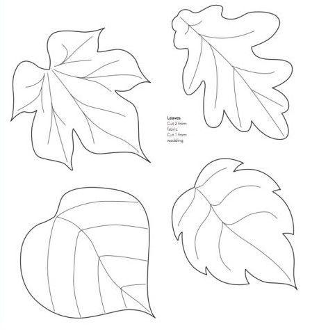 Moldes de hojas de árboles