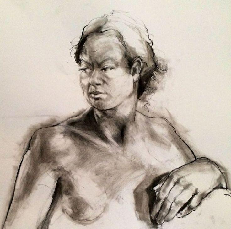 Charcoal on paper. Linda Rademan