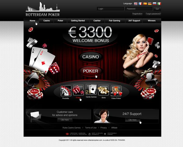 Rotterdam Poker  Online Casino by Vitali Stsiapanau, via Behance