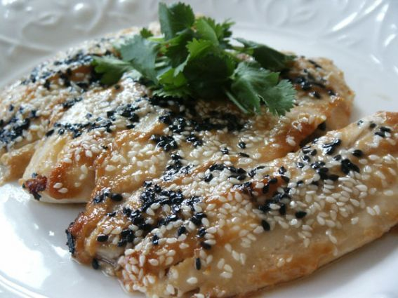 Baked Fish Recipes | Miso Sesame Seeds Baked Fish Recipe