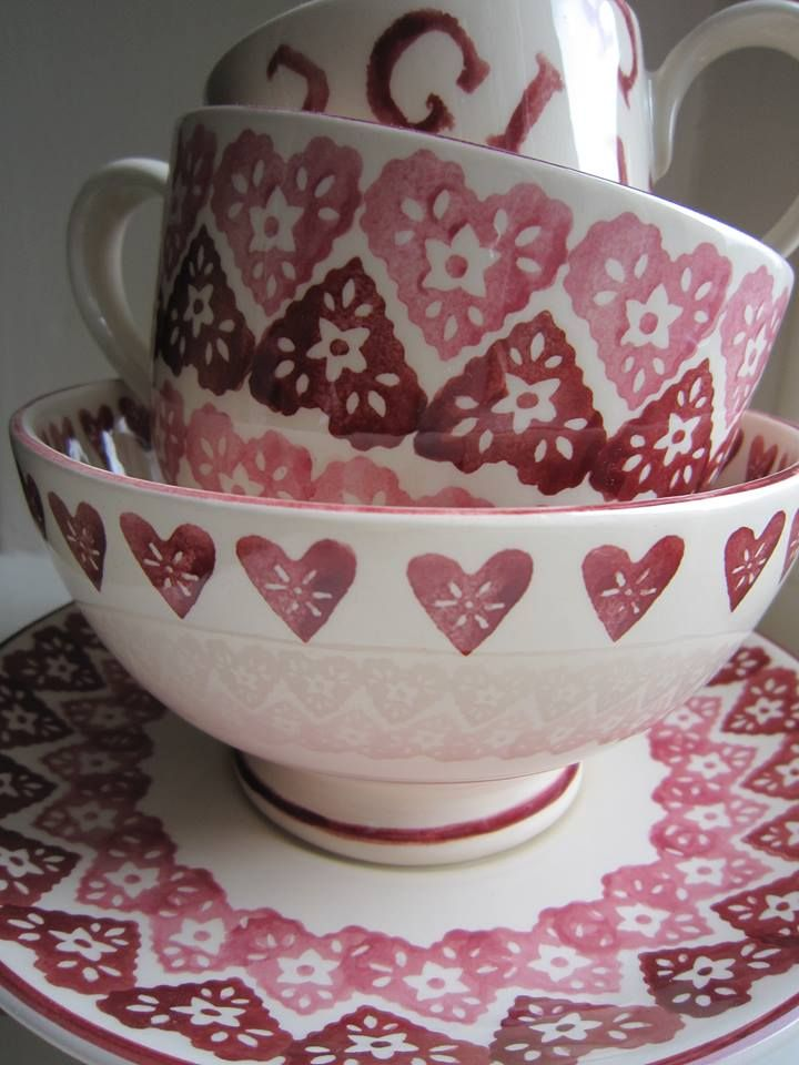 Emma Bridgewater Doily Hearts Cup & Saucer