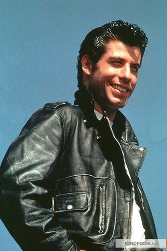 John Travolta as Danny Zuko in Grease the movie