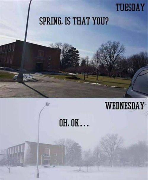 Oh North Carolina weather.