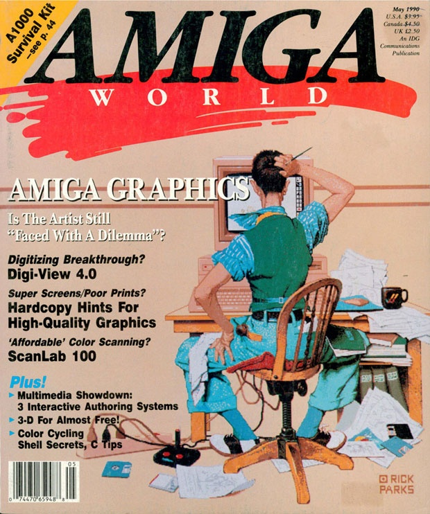 Amiga World magazine for the Amiga computer system - omg...these were always in my house.  My Dad always had to have the latest computer.