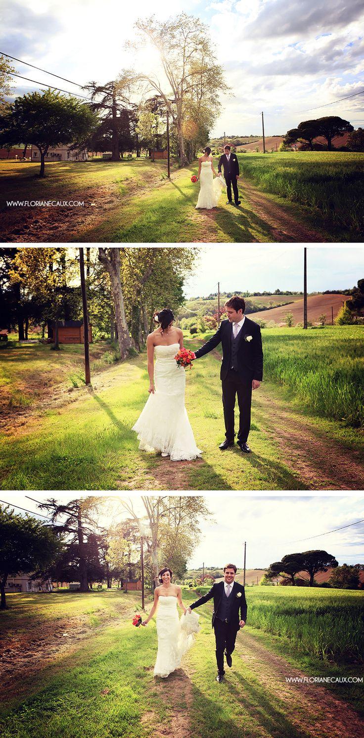 Mariage, photos de couple. Floriane Caux Photographe de Mariage - De jolis Mariages - Toulouse, Ariège.: {Mariage Toulouse - Les Jardins de Ronsac} Sabrina & Nicolas #mariage #wedding #couple #bride