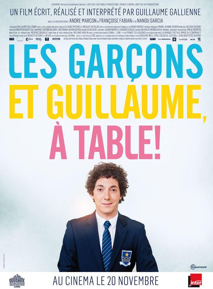 Les Garçons et Guillaume, à table ! est un film de Guillaume Gallienne avec Guillaume Gallienne, André Marcon. Synopsis : Le premier souvenir que j'ai de ma mère c'est quand j'avais quatre ou cinq ans. Elle nous appelle, mes deux frères et